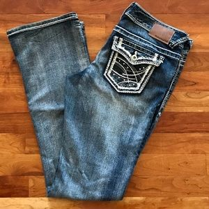 NWOT Women's Maurices Faded Bootcut Jeans.